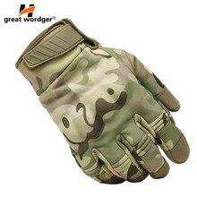 Открытый Новые камуфляжные тактические перчатки армейские водостойкие Пейнтбольные стрельба Военные перчатки для страйкбола анти-скольжение полный палец Сенсорный Cy
