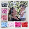 Venda recién nacida y la mamá moño Headwrap conjunto, algodón mamá y yo diadema set, bebé pelo del arco accesorios apoyo de la foto