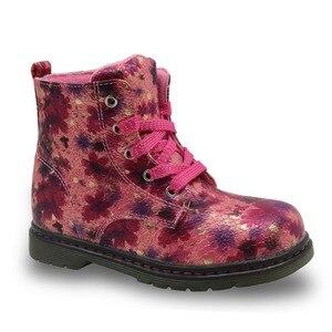 Image 3 - Apakowa floral outono inverno da criança botas da menina à prova dlittle água crianças martin boot borboleta crianças sapatos marca meninas sapatos