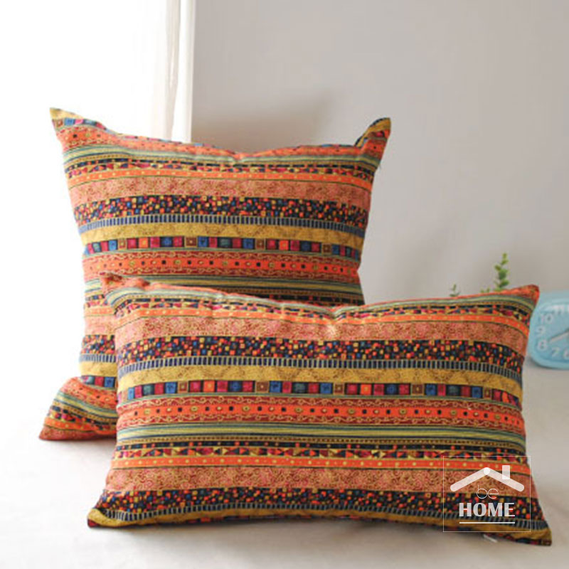 be Home High quality Bohemia Style Cotton and Linen cushion cover pillow case