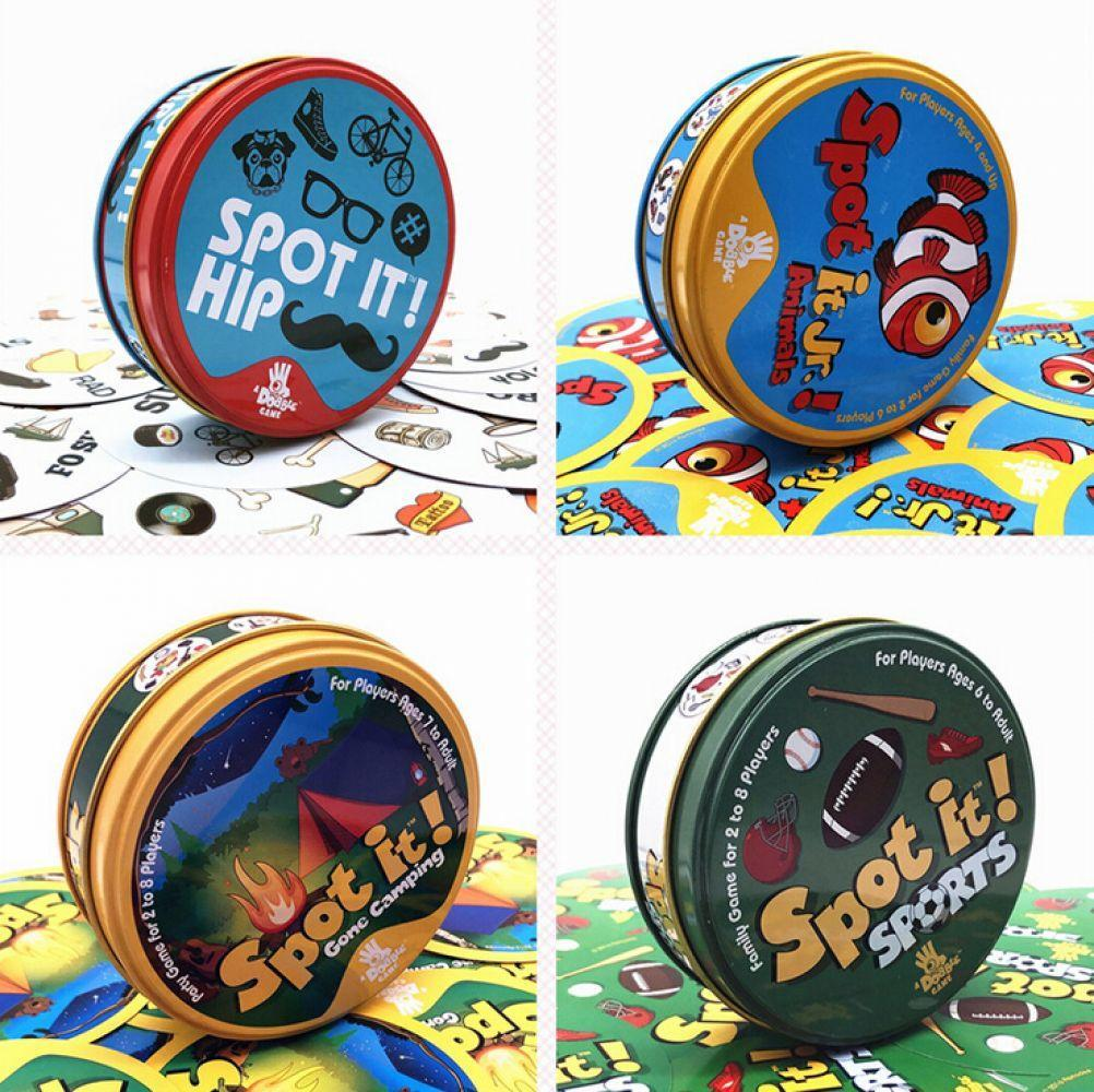 2018 spot cards game it has metal box English version for family activities party board game цена 2017