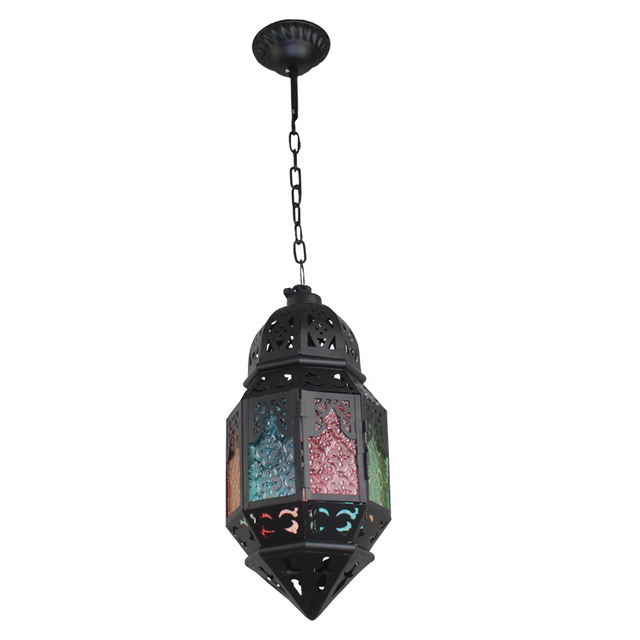 Moroccan Pendant Lamps Hanging Suspension Light Color Glass Vintage Antique
