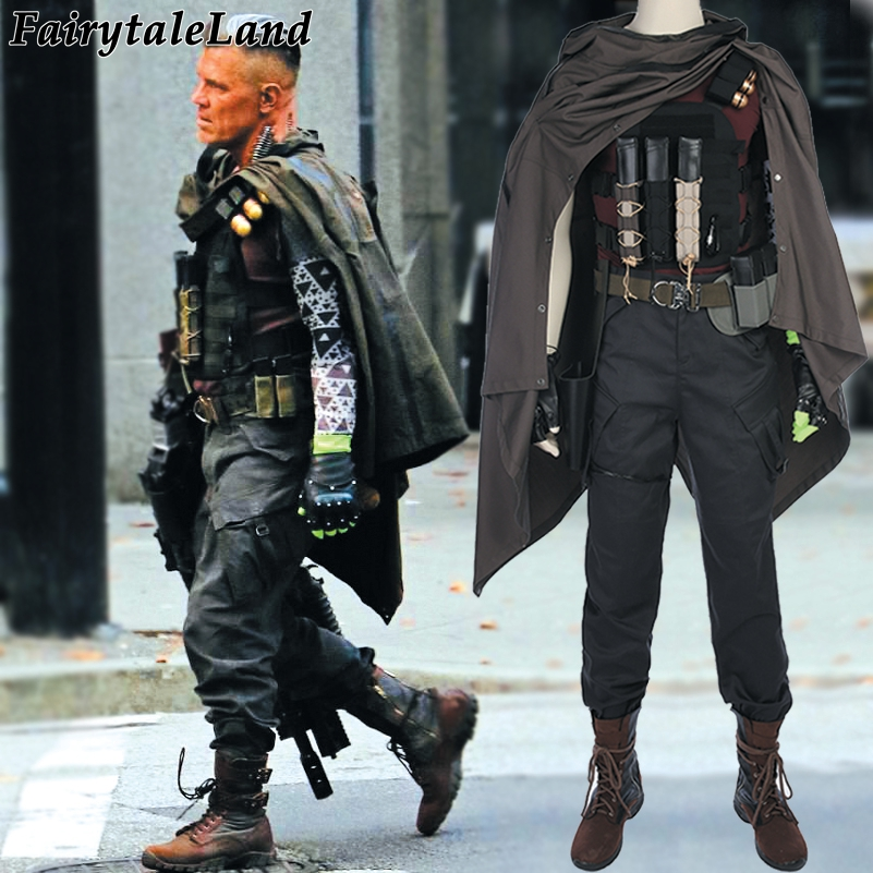 Deadpool 2 Cable Cosplay costume Superhero Carnival Halloween costumes Men Nathan Deadpool Cable costume custom made