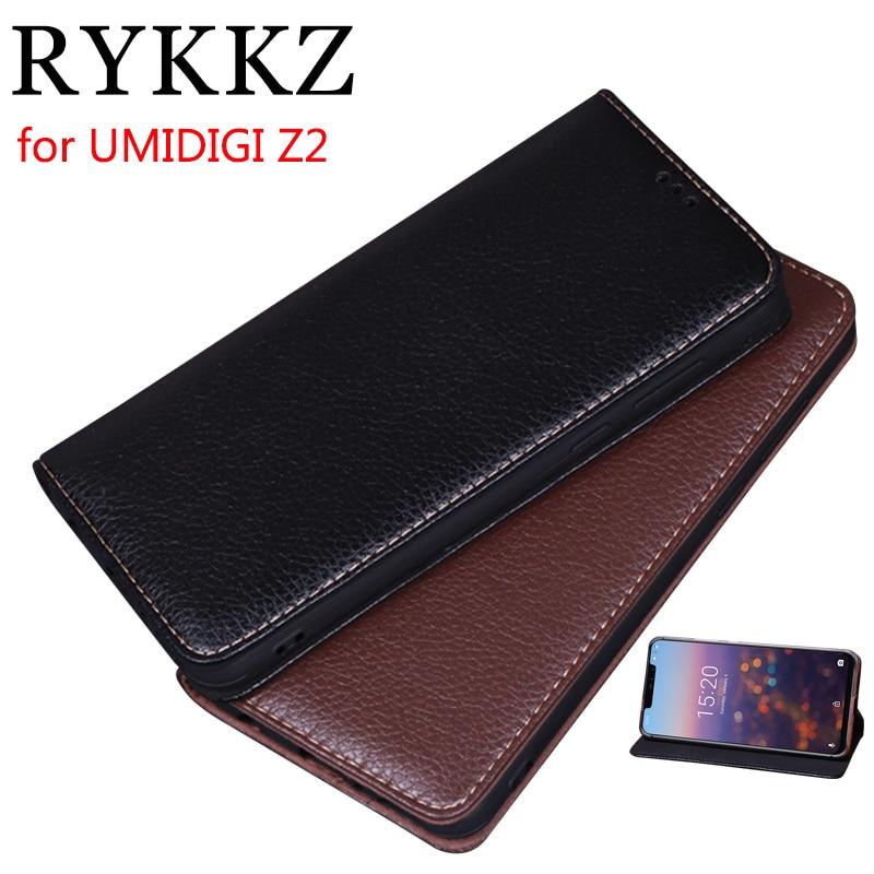 RYKKZ Luxury Leather Magnetic Flip Cover For UMIDIGI Z2 6.2 Mobile Stand Case Pro Phone