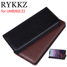 RYKKZ Luxury Leather Magnetic Flip Cover For UMIDIGI Z2 6.2 Mobile Stand Case Pro Phone
