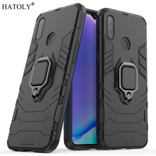 OPPO Realme 3 Case Cover Finger Ring Phone Back Shell Bumper Protective Hard PC Armor For