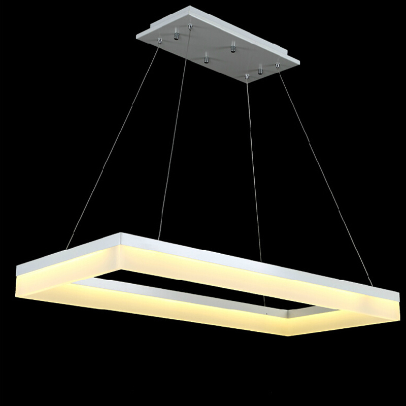 Ecolight free shipping modern led pendant lamps led pendant light ecolight free shipping modern led pendant lamps led pendant light square frames white painting 90 265v led suspensnion lamp in pendant lights from lights aloadofball Choice Image