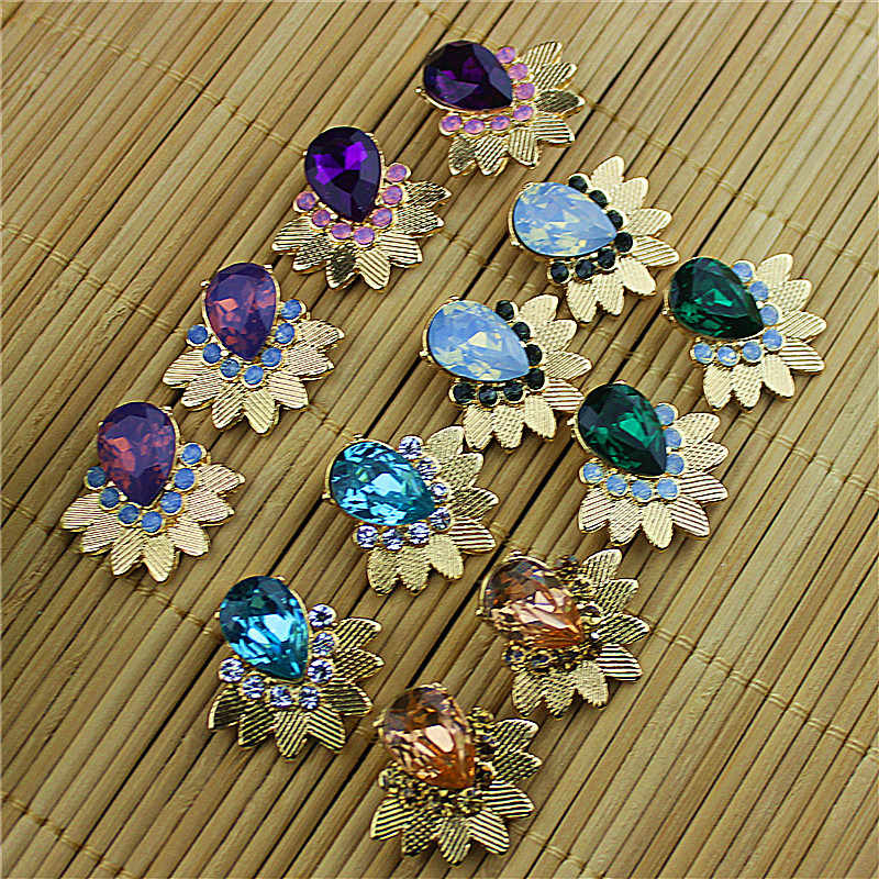 Hot new fashion gorgeous women jewelry wholesale, girls birthday party pink, blue, purple, green, red earrings, free shipping