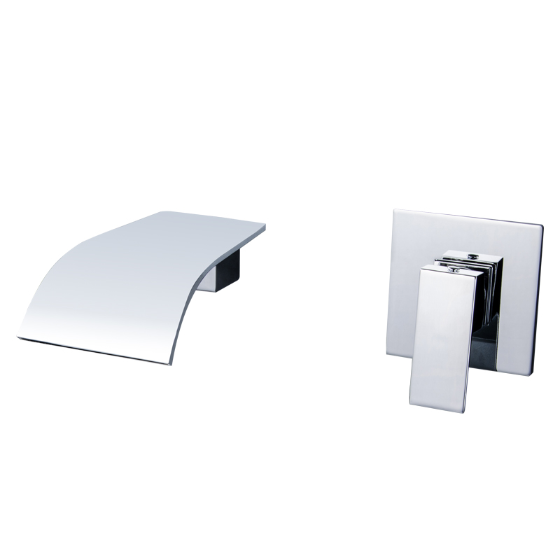 all copper hot and cold mixer water falls into the wall type basin faucet can rotate basin faucet embedded box wall mounted the copper into the wall type of hot and cold water tap the kitchen faucet washing pool dish basin sink tap single can rotate