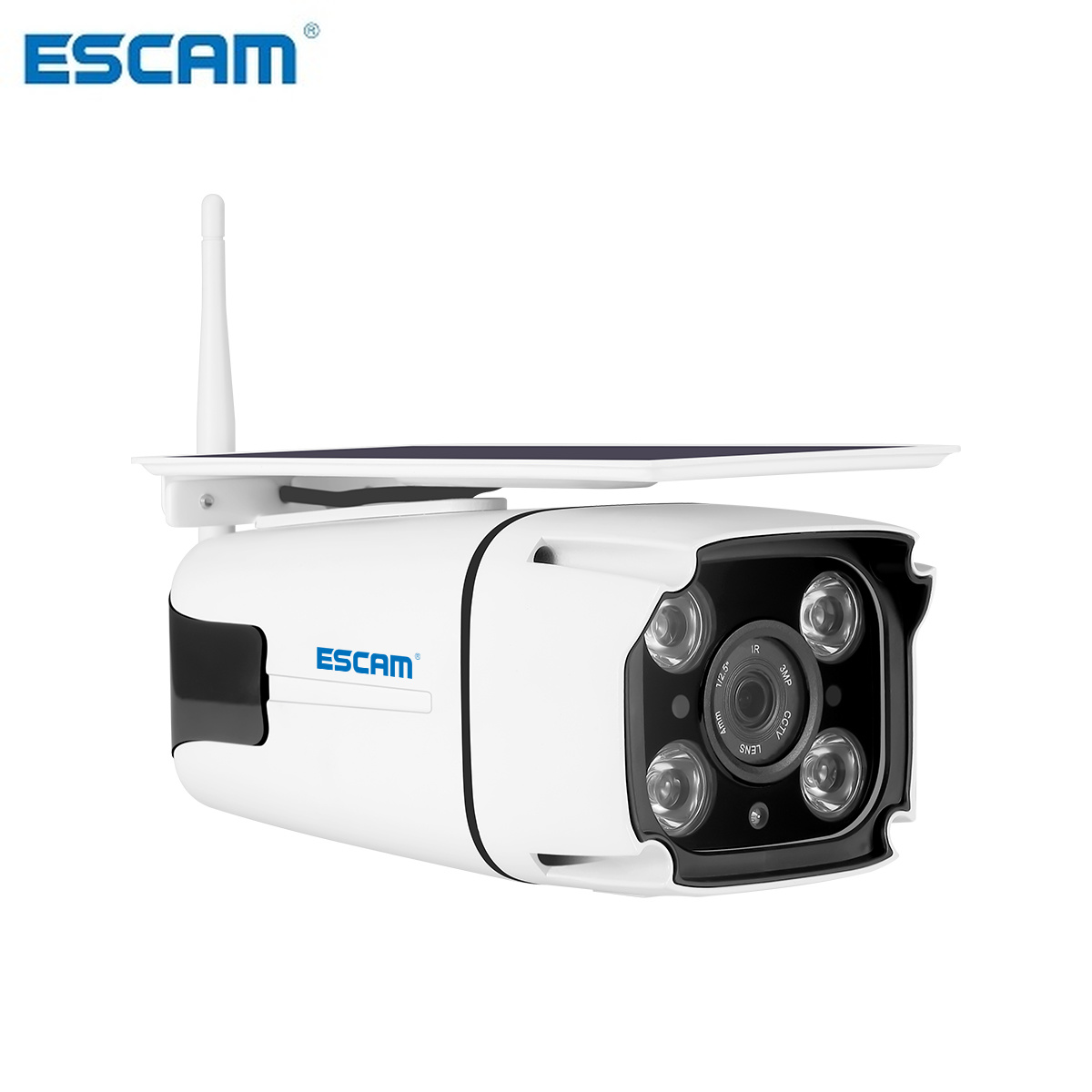 ESCAM QF260 IP67 1080P HD Solar Powered Wireless WIFI IP Surveillance Camera Night Vision Outdoor-in Surveillance Cameras from Security & Protection    2