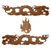 الصين جناح التنين قائمة جديدة الخشب نحت الزاوية زهرة نمط شعرية خلفية جدار زين المنزل اكسسوارات الديكور
