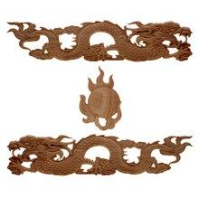 China Pavilion Draken Nieuwe Aanbieding Houtsnijwerk Hoek Bloem Stijl Rooster Achtergrond Muur Applique Woondecoratie Accessoires