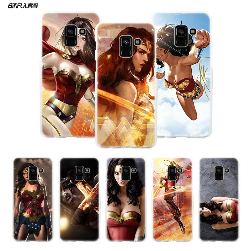 BiNFUL Wonder Woman DC Superhero 2 Hard Clear Case Cover Shell for Samsung Galaxy A3 A5 A7 2016 2017 A8 2018