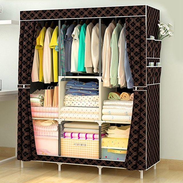 Tienda Online Venta caliente no tejido armario montado armario ropa ...