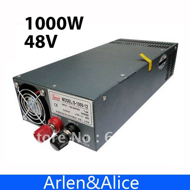1000W 48V 20A 220V INPUT Single Output Switching power supply for LED Strip light AC to DC best quality 12v 15a 180w switching power supply driver for led strip ac 100 240v input to dc 12v