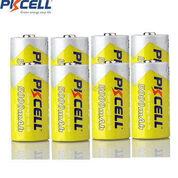 8Pcs 1.2v C Size With Capacity 5000mAh Rechargeable Battery in NIMH Chemistry Rechargeable C Battery