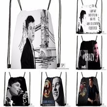 Custom Shawn Mendes Drawstring Backpack Bag Cute Daypack Kids Satchel (Black Back) 31x40cm#180531-02-04