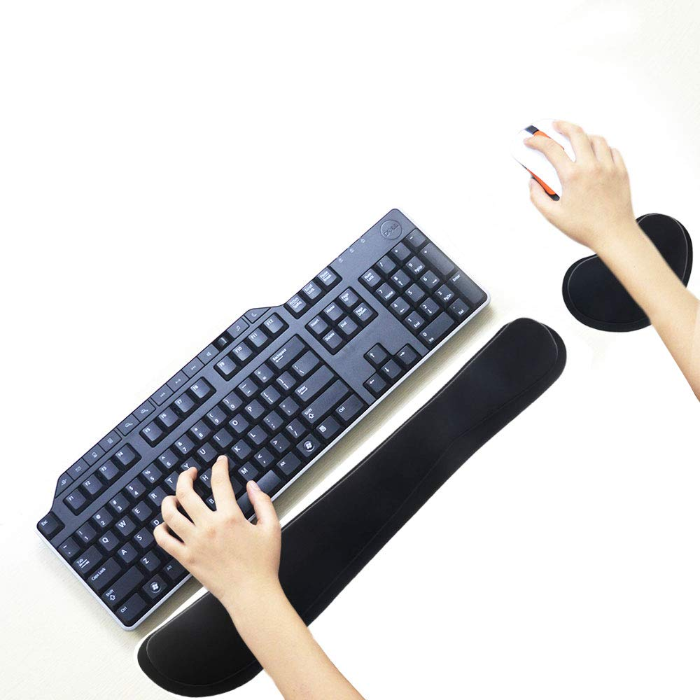 Image 2 - Ergonomic Lightweight Wrist Rest for Computer Keyboard and Mouse Pad Support Memory Foam Set Easy Typing and Wrist Pain Relief-in Mouse Pads from Computer & Office