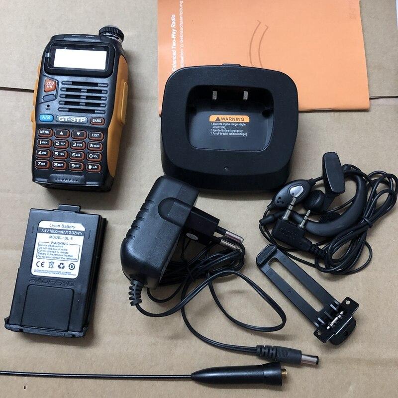 Talkie-walkie GT-3TP double bande 136-174/400-520 MHz avec antenne chargeur de voiture puissance Max 8 WTalkie-walkie GT-3TP double bande 136-174/400-520 MHz avec antenne chargeur de voiture puissance Max 8 W