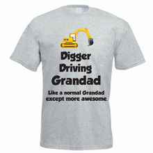 Digger Driver T-Shirt - DIGGER DRIVING GRANDAD - Funny Truck  Builder Gift Idea New Tops Tee New Unisex Funny freeshipping