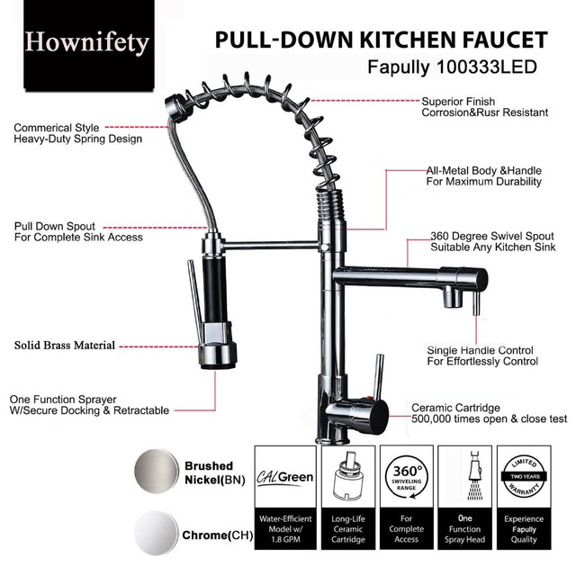 Best Quality Chrome Finish Dual Spout Kitchen Sink Faucet Deck Mount Spring Kitchen Mixer Tap Kitchen Hot and Cold Water tap