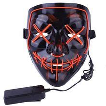 Maski na Halloween LED Light Up maski imprezowe na rok wyborczy wielka śmieszne maski materiały festiwalowe blask w ciemności tanie tanio Miga Z tworzywa sztucznego Unisex 5-7 lat Q1A0303 TEUMI