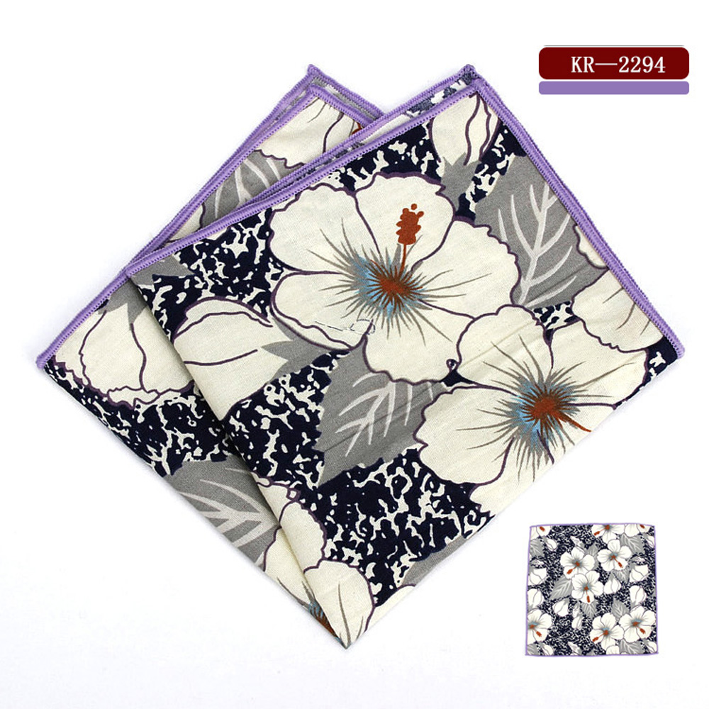 Mens Tuxedo Floral Pocket Square Wedding Party Men Business Hanky Handkerchief BWTYF0223