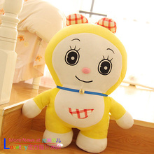 middle plush yellow doraemon toy lovely cartoon doraemon sister doll gift about 60cm