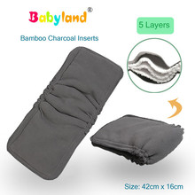 [Happy New Year] (30pcs A Lot) Bamboo Charcoal Gusseted Insert Double Gusset Liners Prevent Leakage for Cloth Diaper Babyland