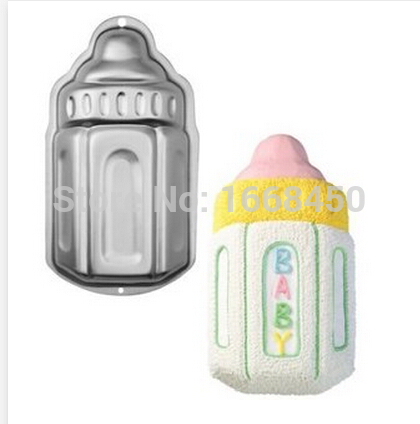 3D Baby Milk Bottle Kids Party Cake Baking Tin Pan Tray Mold Mould Tool