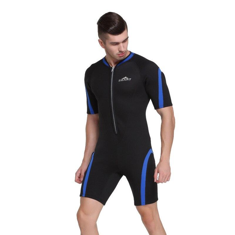 Sbart 2mm néoprène combinaisons hommes plongée sous-marine complet costumes à manches courtes homme plongée costume surf voile natation une pièce DBE - 6