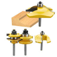 DWZ 3x Shank Ogee Rail Stile Raised Blade Cutter Panel Cabinet Door Router Bit Set