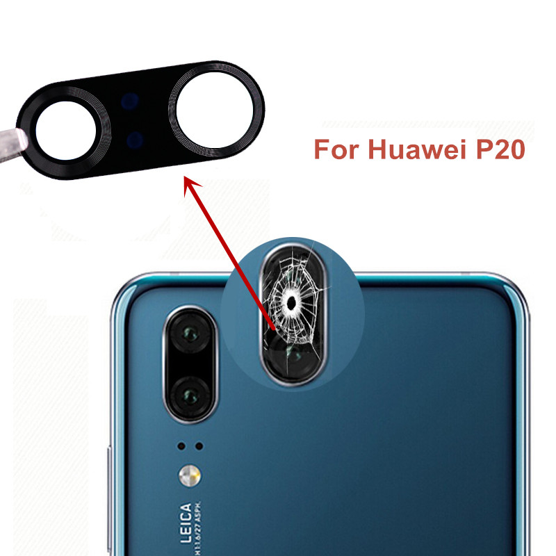 New Back Rear Camera Glass Lens Cover For Huawei P20 P20 Pro Lite Nova 3e With Adhesive Tape Replacement + Tracking Number