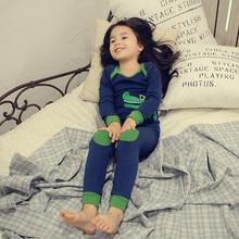 Long sleeve sleepwear Boys And Girls underwear autumn Pajamas pullover Shirt Kids Girl lounge Pajama Set