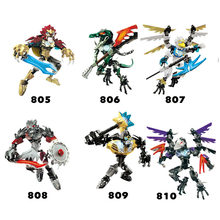 6Pcs/lot Bionicle Robot Chimo 805-810 Action Figures Building Block Bricks Toys Compatible Legoings Chimaed(China)