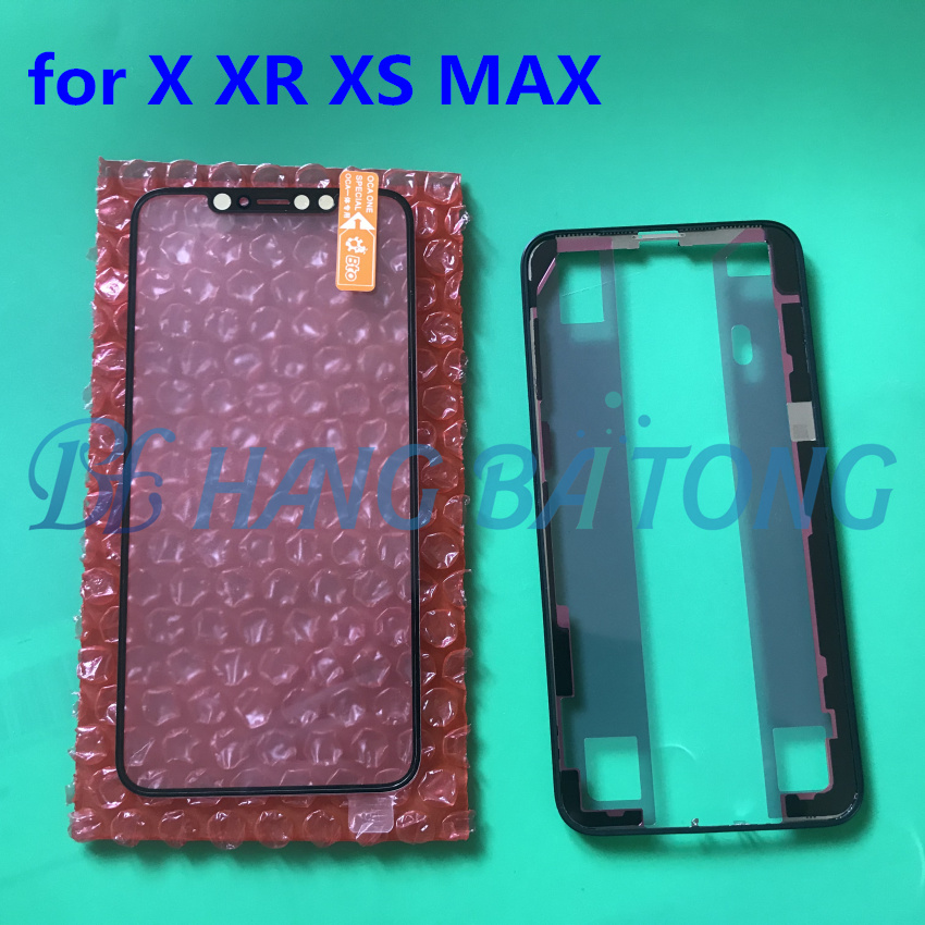 new Original Replacemen LCD Front Touch panel Glass Outer Lens Pre-paste OCA Bezel Middle Frame for iphone X xr xs 11 11pro max(China)