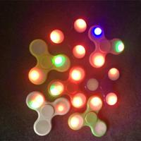 Leadingstar LED Light Up Finger Spinner Tri Spinning Toys Plastic Fidget Spinner for Autism ADHD Relief Focus Anxiety Stress