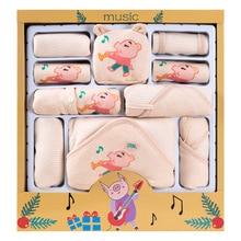 0-6M Newborn Baby Set Boy Clothes 100% Cotton Infant Suit Baby Girl Clothes Outfits Pants Baby Clothing Hat Bib стоимость