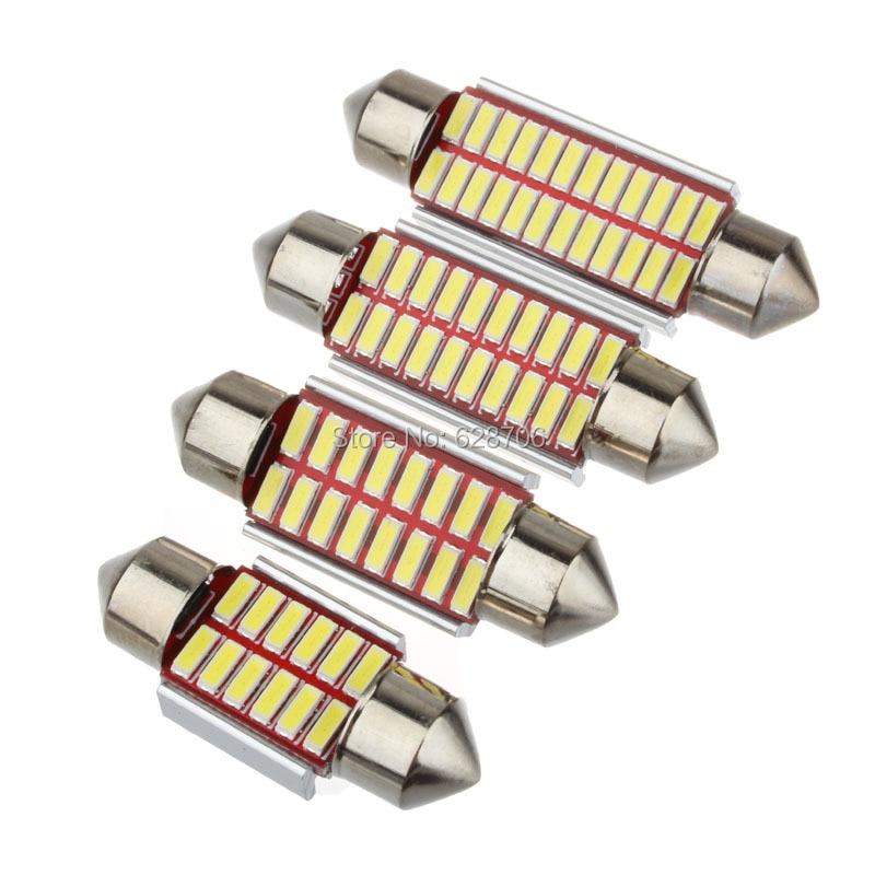 Лама светодиодная автомобильная Festoon, 31/36/39/42 мм, C5W, C10W, сверхъяркая, 4014 SMD, без ошибок Canbus, для освещения салона автомобиля