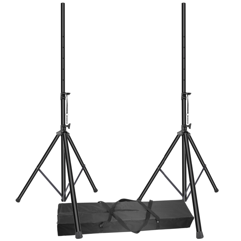 Neewer 2 Packs Pro PA Speaker Stand Pole-Mount Adjustable Height 6 Feet with Carrying Bag Load Capacity up to 100 pounds