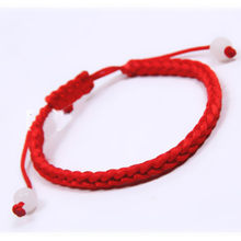 Retro 1 PC Red String Hand-woven rope Braided Bracelet Friendship Bracelets 20cm long(China)