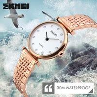 2017 SKMEI Women Ladies Watches Montre Femme Fashion Women Wristwatches Female Clock Dress Quartz Watch Lady