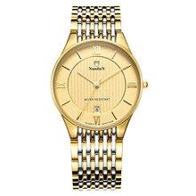 Люксовый Бренд Nuodun Часы Моды для Мужчин Кварцевые Часы Из Нержавеющей Стали Платье Наручные Часы Relogio Masculino Hombre