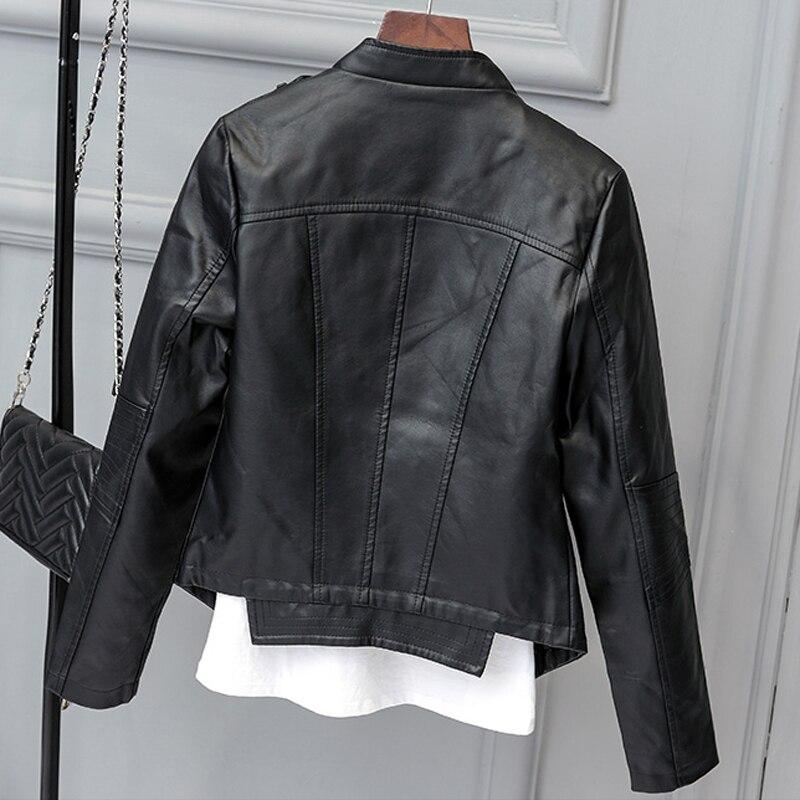 5d401a830 Moda primavera mulheres jaqueta de camurça preta com zíper luz jaquetas de  camurça de couro com franjas exteriores feminino marca clothing agradável  c438 em ...