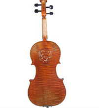 Free Shipping Advanced pattern solid board Handmade Violin Wood Violin with Violin case Carving Violin