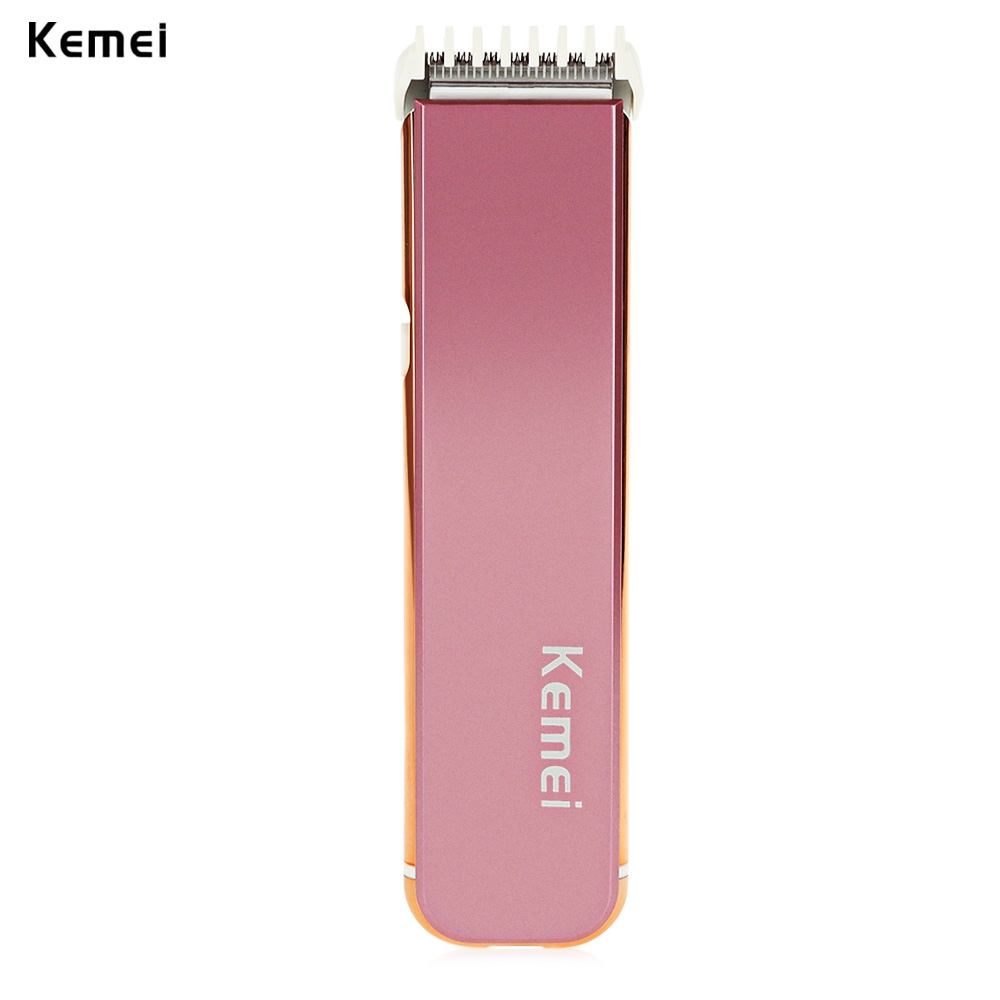 New Kemei KM-621 Portable Rechargeable Electric Hair Trimmer Shaver Professional wireless Barber Clippers Eu Plug kemei km 173 led adjustable temperature ceramic electric tube hair curler
