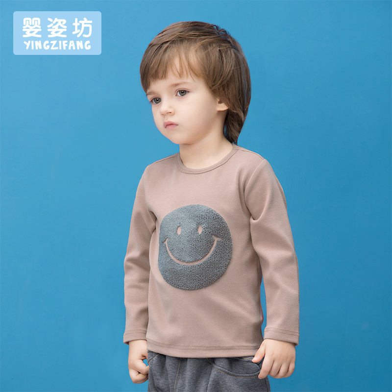 2017-New-Hot-Sale-Full-O-neck-Character-Regular-Yingzifang-Unisex-Casual-Sleeves-Cotton-Smile-Face-Tees-Kids-T-shirts-3