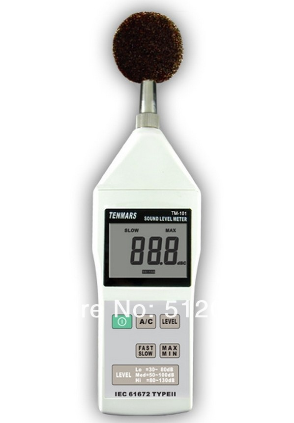 Tenmars TM-101 Sound Level Noise Meter Tester 30~130dB 2000 readings ...