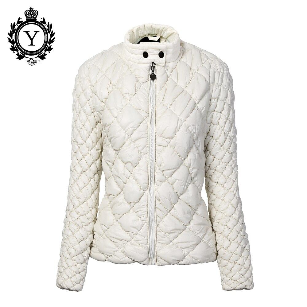 COUTUDI Designed Women's Autumn Winter Coat Jackets Short Light Slim Brand Parkas Female Waterproof Warm Womens Jacket Beige XXL