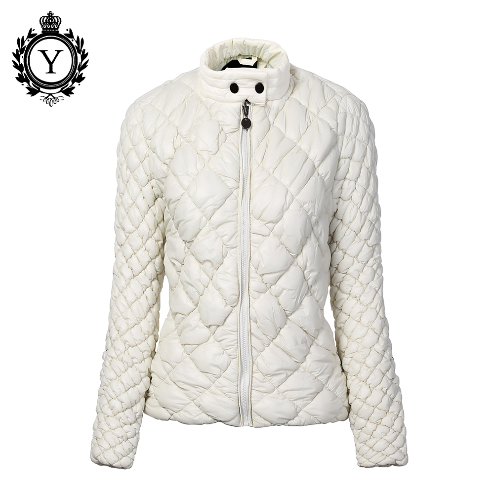 COUTUDI Women's Autumn Winter Jacket Coat Short Slim Brand   Parkas   Mujer 2019 Female Waterproof Warm Womens Quilted Jacket Beige